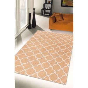 Vysokoodolný kuchynský koberec Webtapetti Trellis Apricot, 80 x 130 cm