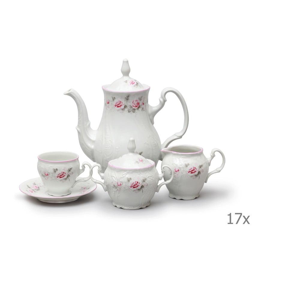 Porcelánová sada na kávu s ružičkami Thun Bernadotte