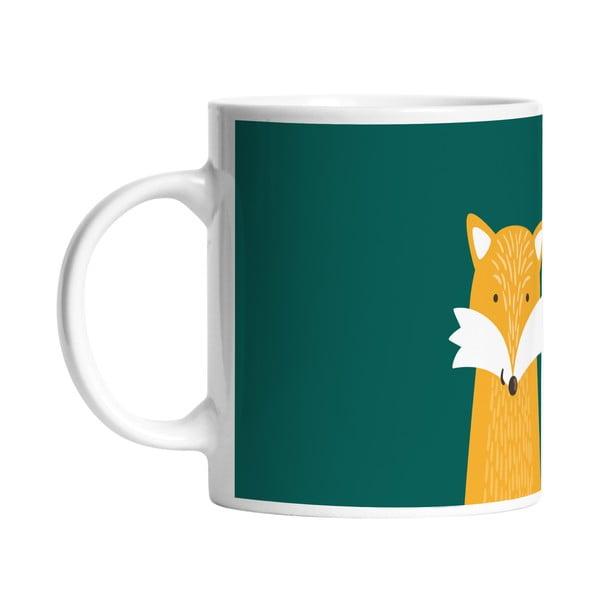 Keramický hrnček Hello Fox, 330 ml