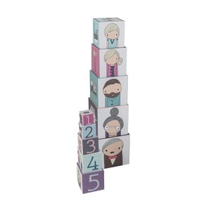 Detské hracie kocky Sebra Village Stacking Blocks