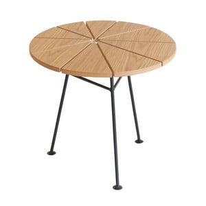 Hnedý odkladací stolík OK Design Bambam, Ø50 cm