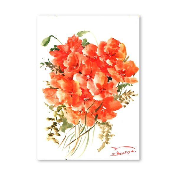 Plagát Flowers Orange od Suren Nersisyan