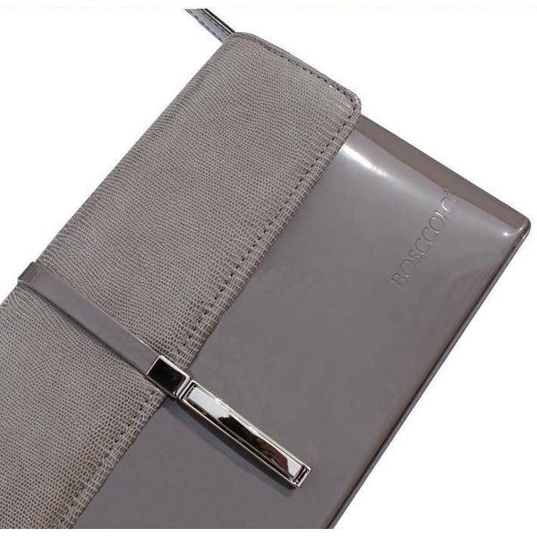 Kožená kabelka/listová kabelka o Boscollo Grey 2297