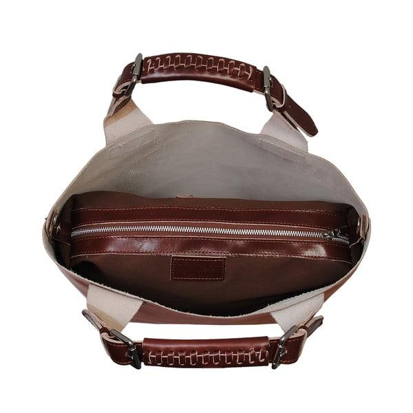Hnedá kožená kabelka Andrea Cardone 2004