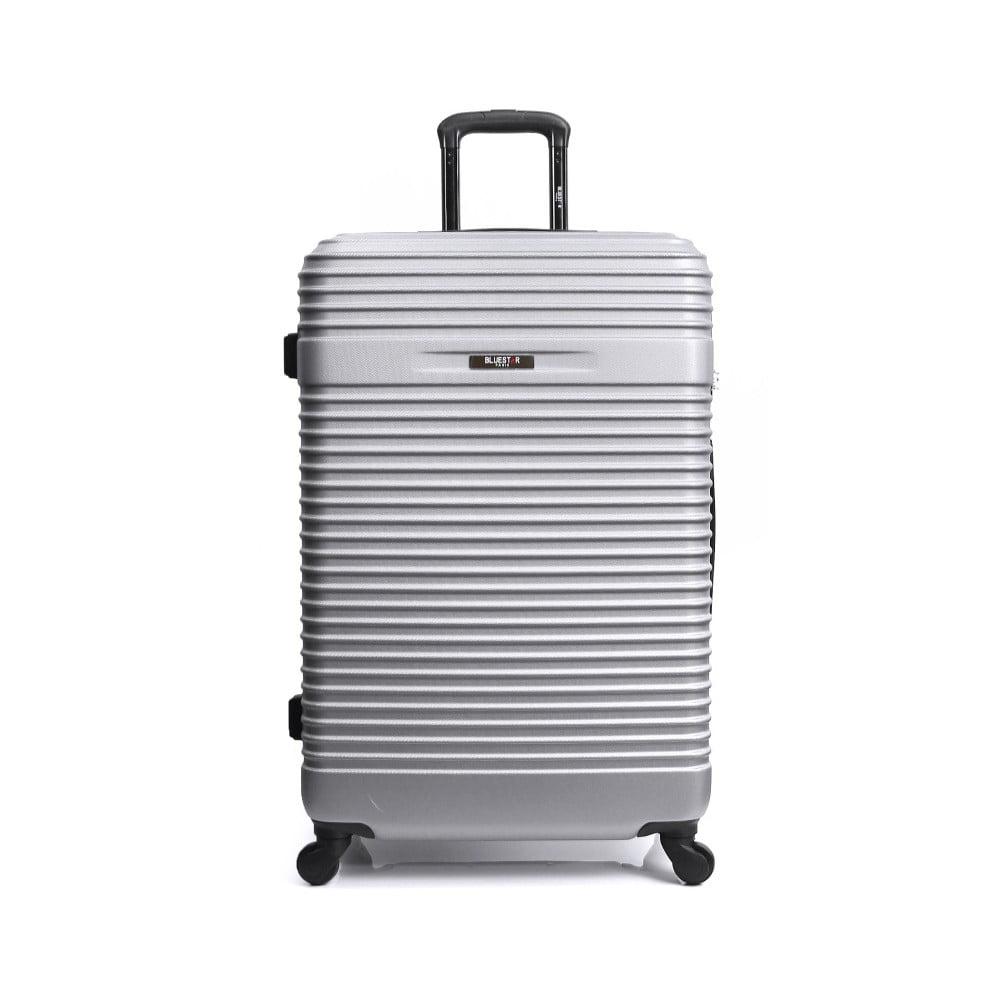 Sivý cestovný kufor na kolieskach Bluestar Cargo, 64 l