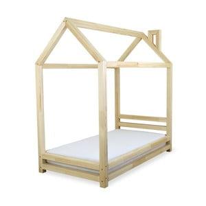 Detská posteľ z lakovaného borovicového dreva Benlemi Happy, 90×180cm