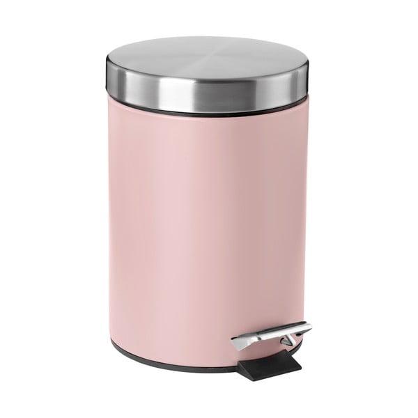 Ružový pedálový odpadkový kôš Zone Confetti, 3 l