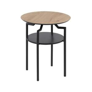 Čierno-hnedý odkládací stolík Actona Goldington, ⌀ 45 cm