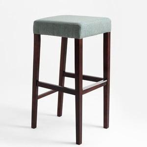 Svetlotyrkysová barová stolička s tmavohnedými nohami Custom Form Wilton