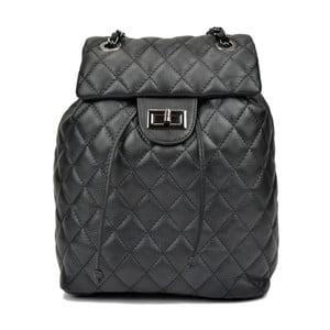 Čierny dámský kožený batoh Anna Luchini Magnarro