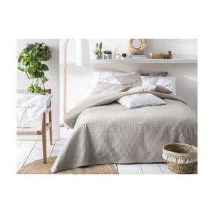 Béžovo-sivý pléd cez posteľ Slowdeco Buenos, 170×210 cm