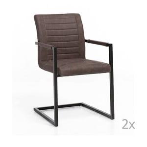 Sada 2 hnedých stoličiek Woodking Picasso