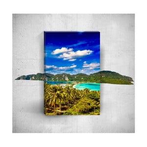Nástenný 3D obraz Mosticx Tropical Island, 40×60 cm
