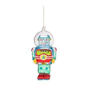 Vianočná závesná ozdoba zo skla Butlers Robot