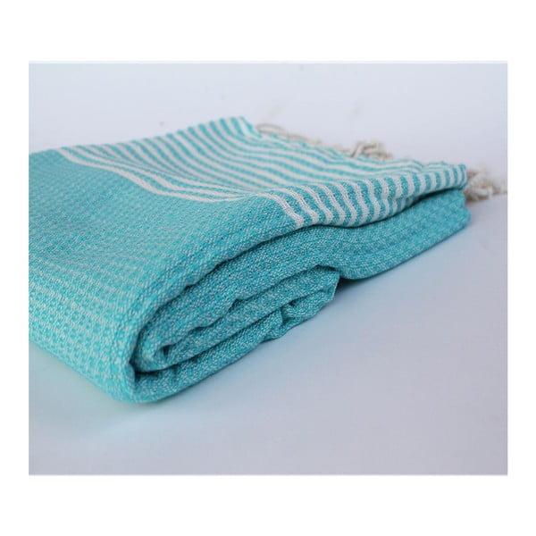 Peshtamal Stripy Turquoise, 100x180 cm