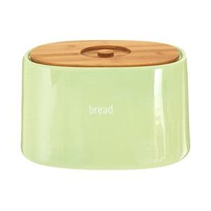 Zelený chlebník s bambusovým vrchnákom Premier Housewares Fletcher, 7,7 l
