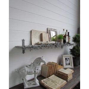 Nástenná polica Grey Antique, 113x23 cm