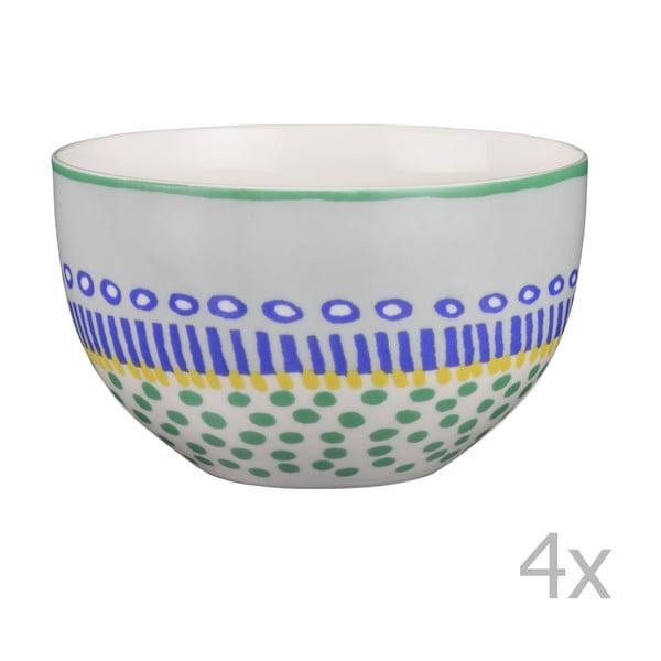 Sada 4 porcelánových misiek Oilily 12 cm, zelená