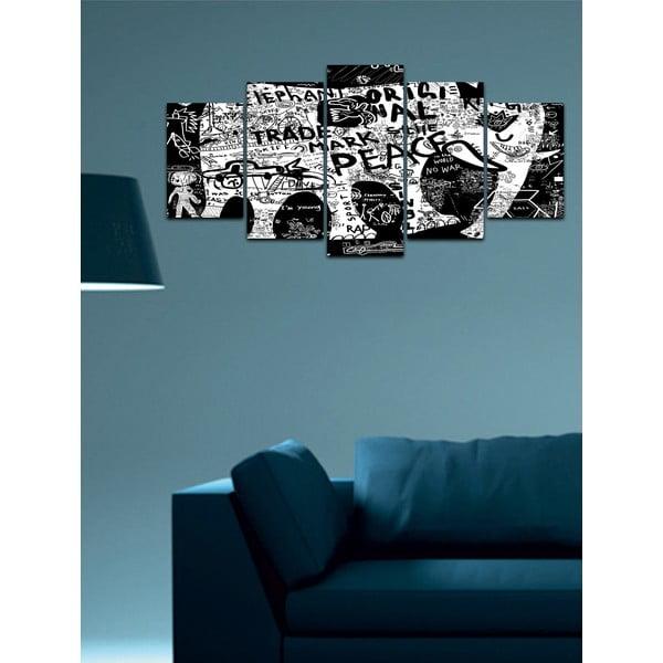 Viacdielny obraz Black&White no. 22, 100x50 cm
