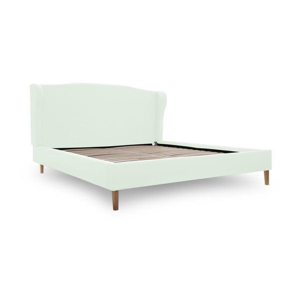 Pastelovozelená posteľ VIVONITA Windsor 160x200cm, prírodné nohy