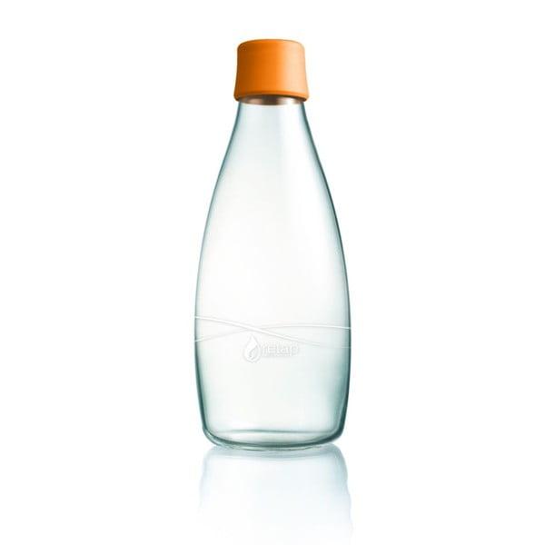 Oranžová sklenená fľaša ReTap s doživotnou zárukou, 800ml