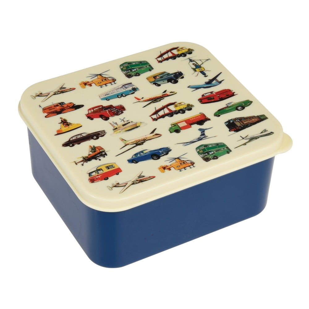 Modrá desiatová škatuľka Rex London Vintage Transport