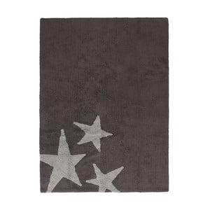 Tmavosivý bavlnený ručne vyrobený koberec Lorena Canals Three Stars, 120 x 160 cm