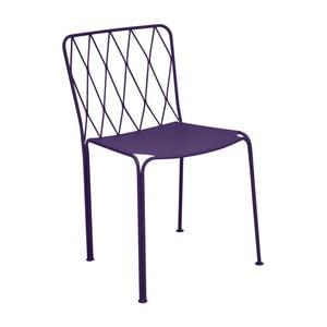 Fialová záhradná stolička Fermob Kintbury