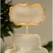 Svadobná dekorácia na tortu s LED svetielkami Cake Cream