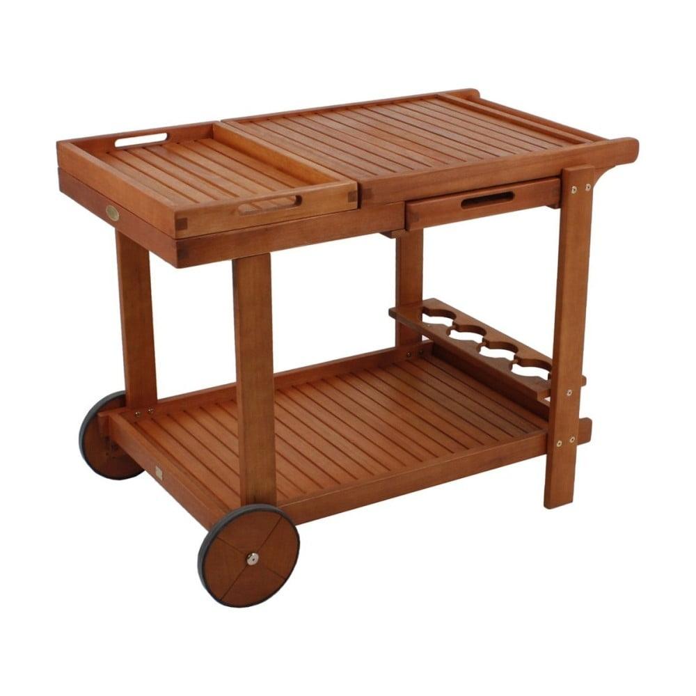 Záhradný servírovací vozík s 2 podnosmi z eukalyptového dreva ADDU Hayward