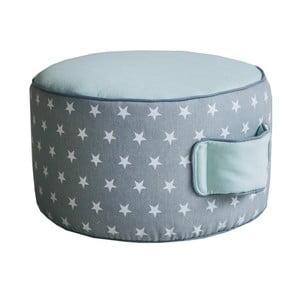 Mentolovo-sivý sedací puf Vigvam Design Stars