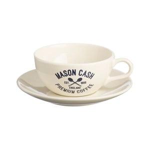 Biela šálka stanierikom Mason Cash Varsity Cappuccino