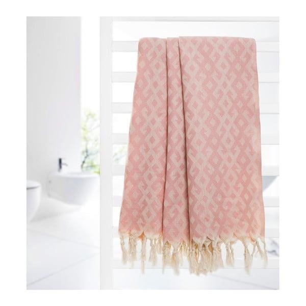 Hammam osuška Orient Pink, 95x175 cm