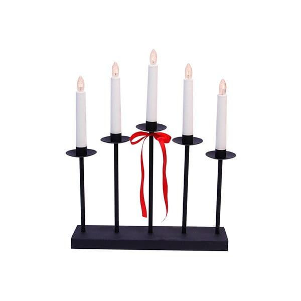 Svietnik s LED svetielkami Greta, čierny