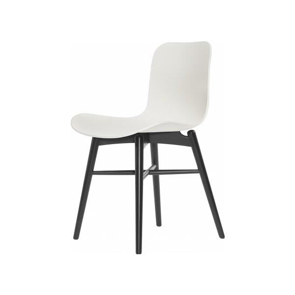 Biela jedálenská stolička NORR11 Langue Stained