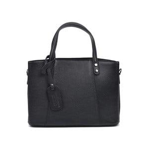 Čierna kožená kabelka Anna Luchini Marfusso