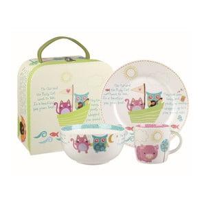 Raňajkový set v kufríku Owl & Cat