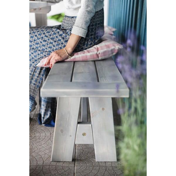 Záhradná lavica Siesta White, 200x33 cm
