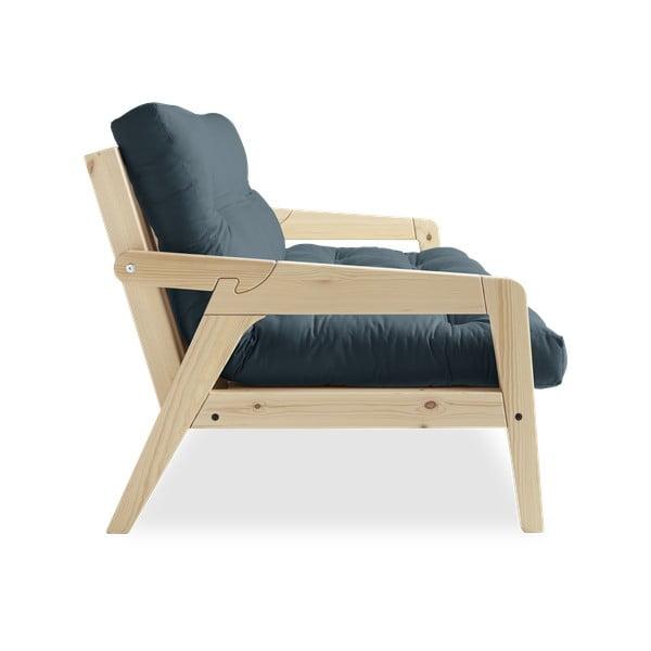 Variabilná rozkladacia pohovka s futónom v petrolejovomodrej farbe Karup Design Grab Natural/Petrol Blue