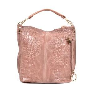 Ružová kožená kabelka Roberta M Ganna Rosa