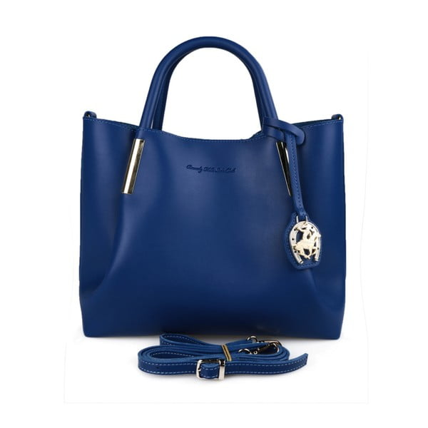 Modrá kabelka z eko kože Beverly Hills Polo Club Frederica