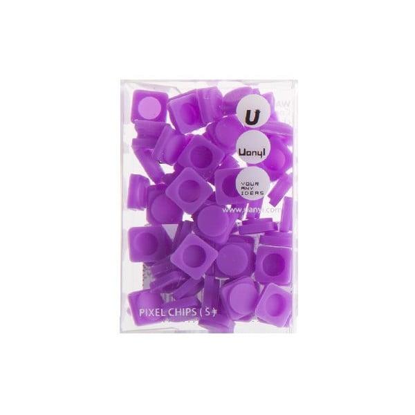 Sada 60 malých pixelov, purple