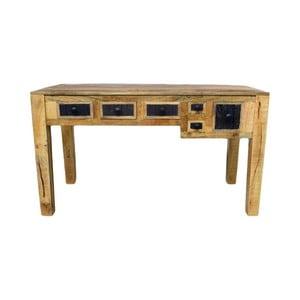 Pracovný stôl z masívneho mangového dreva Massive Home Bella