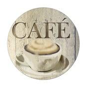 Sklenená podložka pod hrniec Wenko Café, ø 20 cm