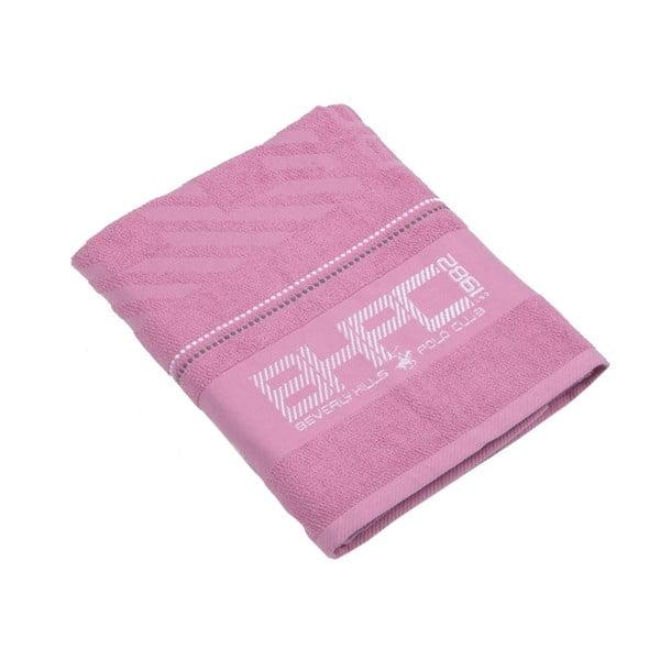Ružová bavlnená osuška BHPC, 80x150cm