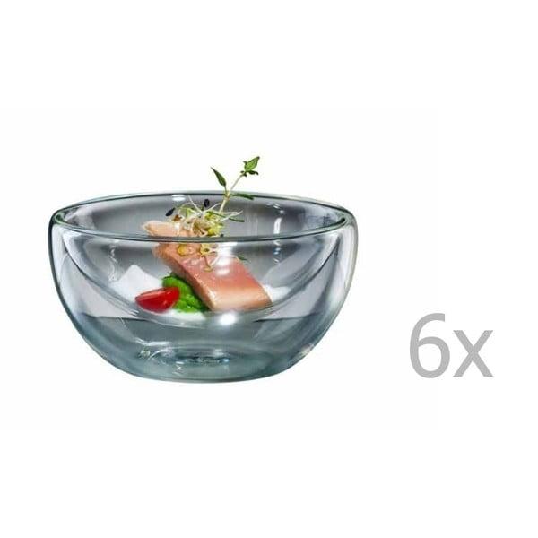 Sada 6 veľkých sklenených mištičiek bloomix