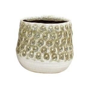 Pieskovohnedý kvetináč z keramiky Strömshaga Anten, Ø14 cm