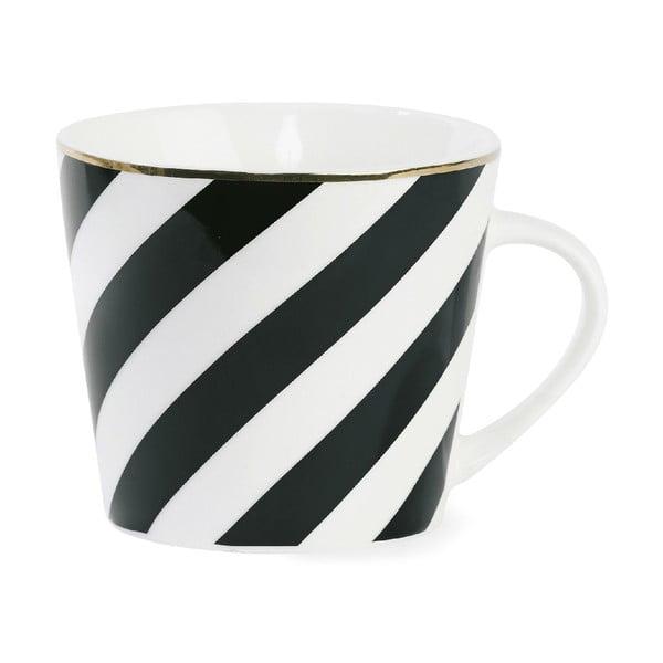 Keramický hrnček Black Stripes
