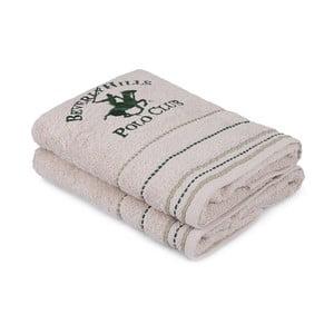 Sada 2 béžových uterákov na ruky, 90 x 50 cm