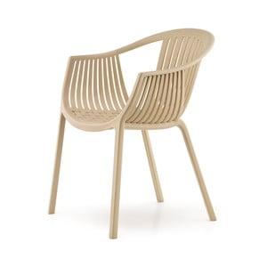 Béžová stolička Pedrali Tatami
